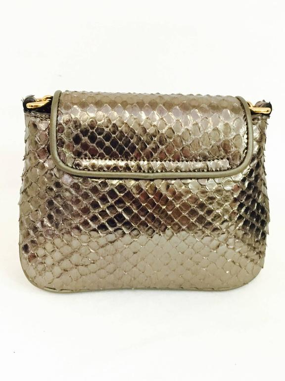 af3d762a5 Women's Gucci Cross body Python Bag with Gold Tone Chain, 1973 For Sale