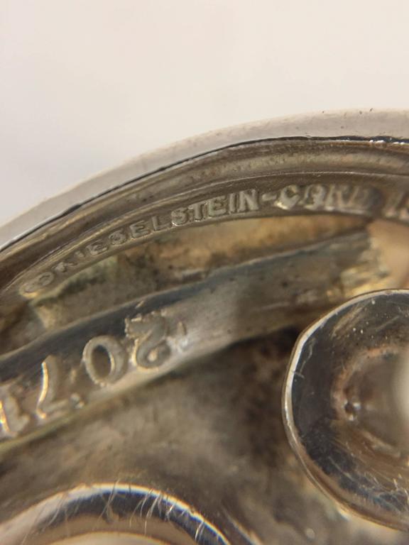Women's or Men's Kieselstein Cord Sterling Silver Moonface Belt Buckle For Sale