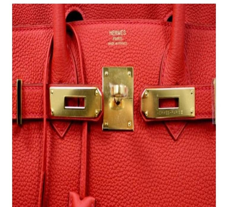 b9e0a7343e Brand New Hermès Birkin 30 Geranium GHW For Sale at 1stdibs