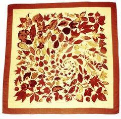 Hermes Tourbillon Cashmere and Silk Fall Leaves Shawl