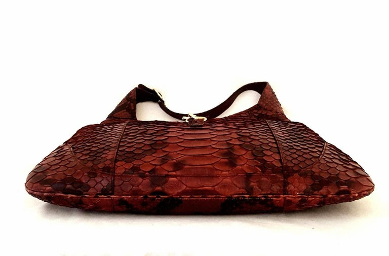 e7c046ec7a7cbd Gucci Jackie Burgundy Python Leather Hobo Bag For Sale at 1stdibs
