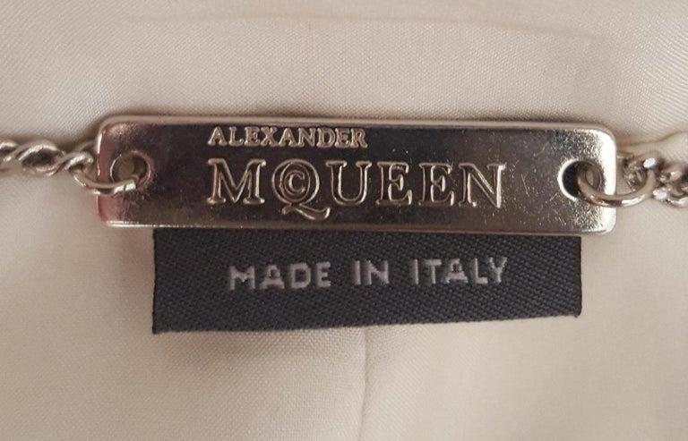 Alexander McQueen Habotai Silk & More Silk Winter White 10 Layer Coat For Sale 1
