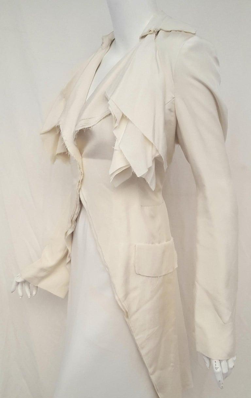 Women's Alexander McQueen Habotai Silk & More Silk Winter White 10 Layer Coat For Sale