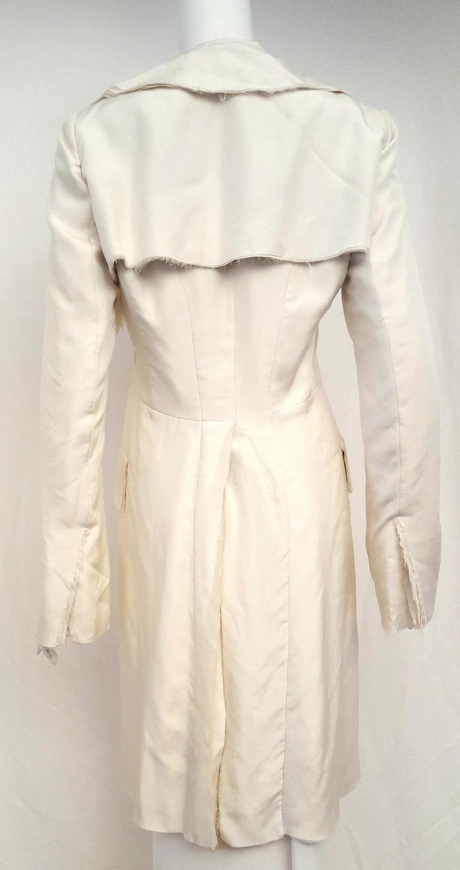 Alexander McQueen Habotai Silk & More Silk Winter White 10 Layer Coat In Excellent Condition For Sale In Palm Beach, FL