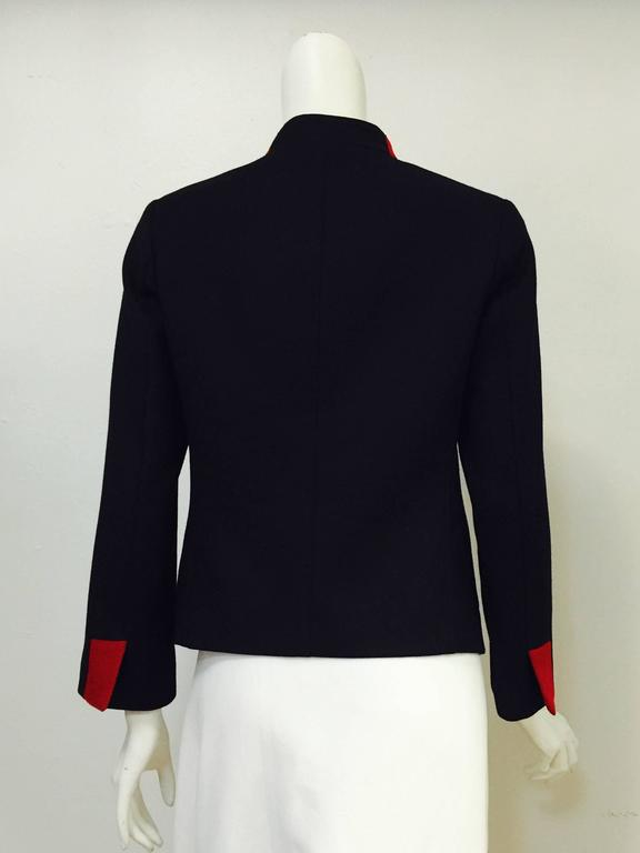 Women's Nili Lotan Wool and Cashmere Blend Military Jacket For Sale