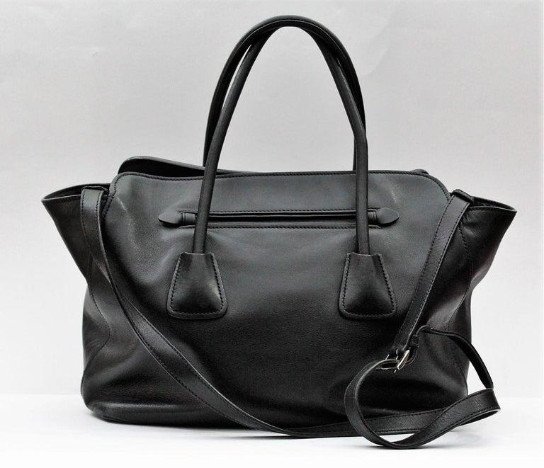 Black Croc Effect Shoulder Bag   Missguided