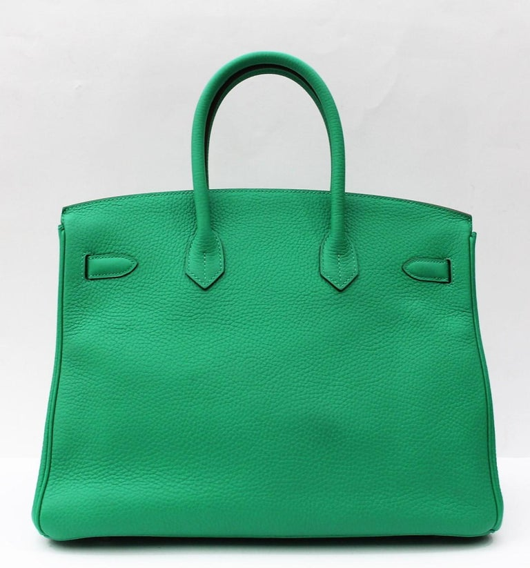 Hermes Mint Green Taurillon Clemence Leather Birkin 35 Bag In Excellent  Condition For Sale In Torre 3e69c7707c