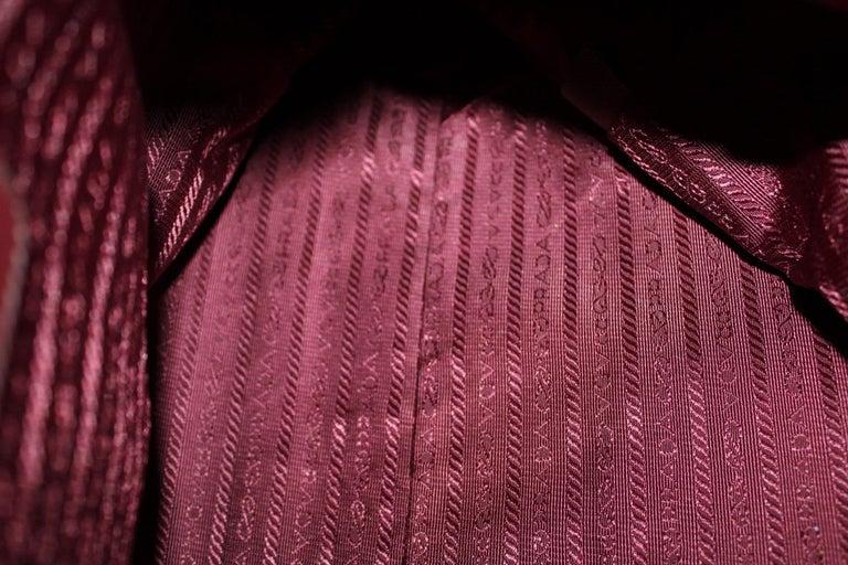 Prada Bordeaux Leather Shoulder Bag For Sale 5