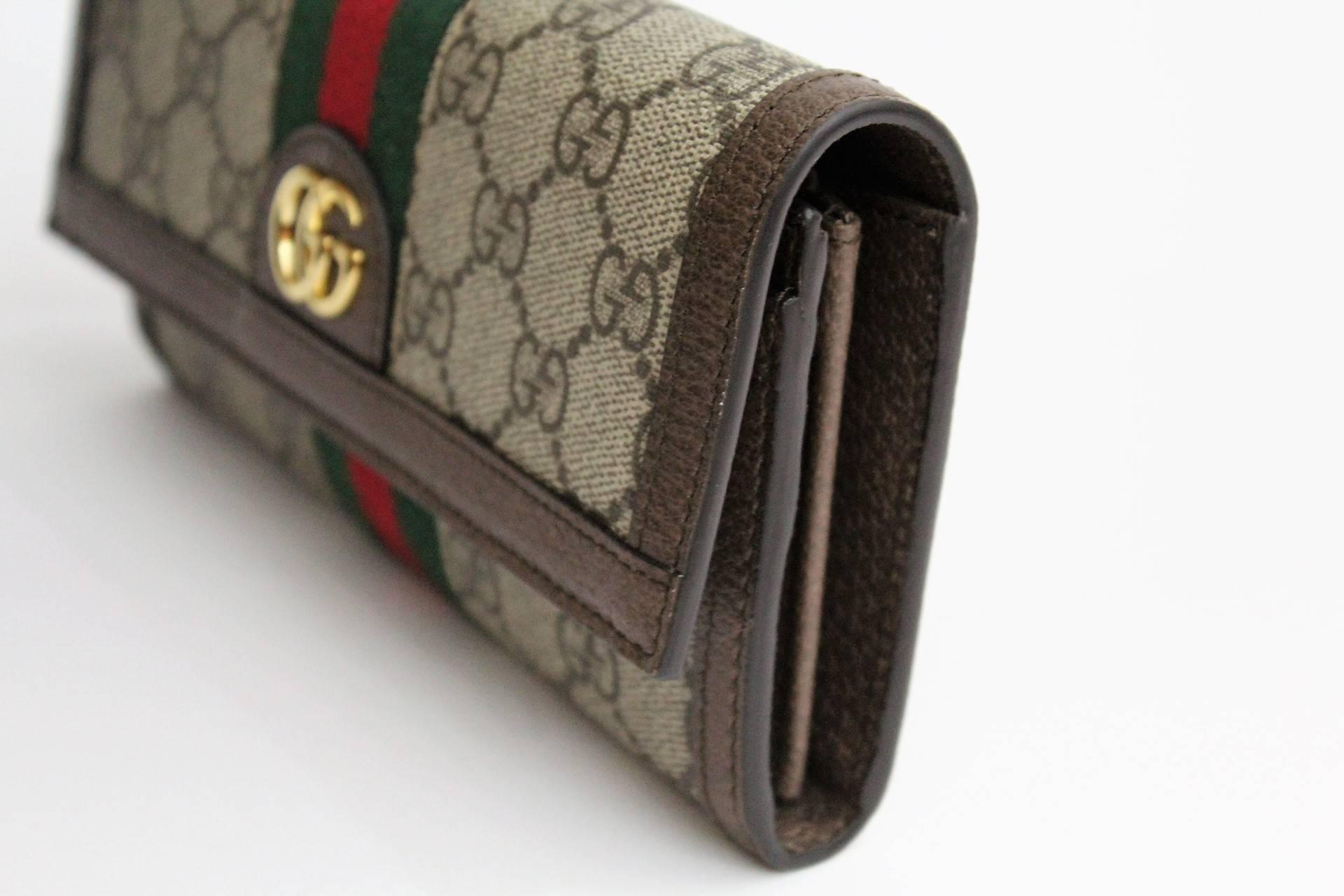 1f762a61cef Gucci Ophidia GG continental wallet For Sale at 1stdibs