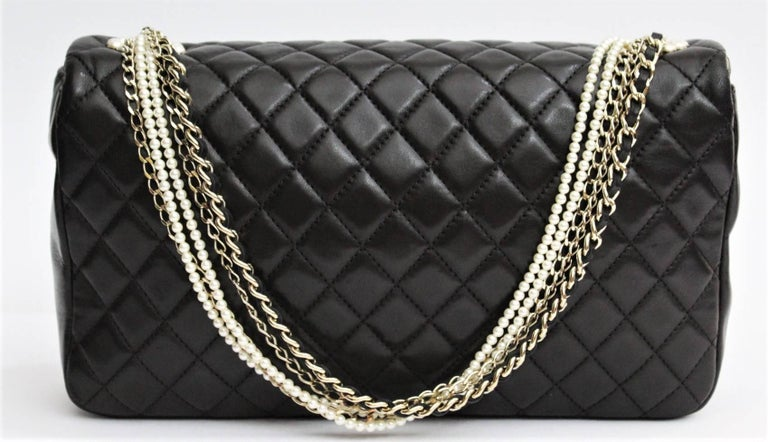 Black Chanel  Westminster Flap Bag Cruise 2014 For Sale