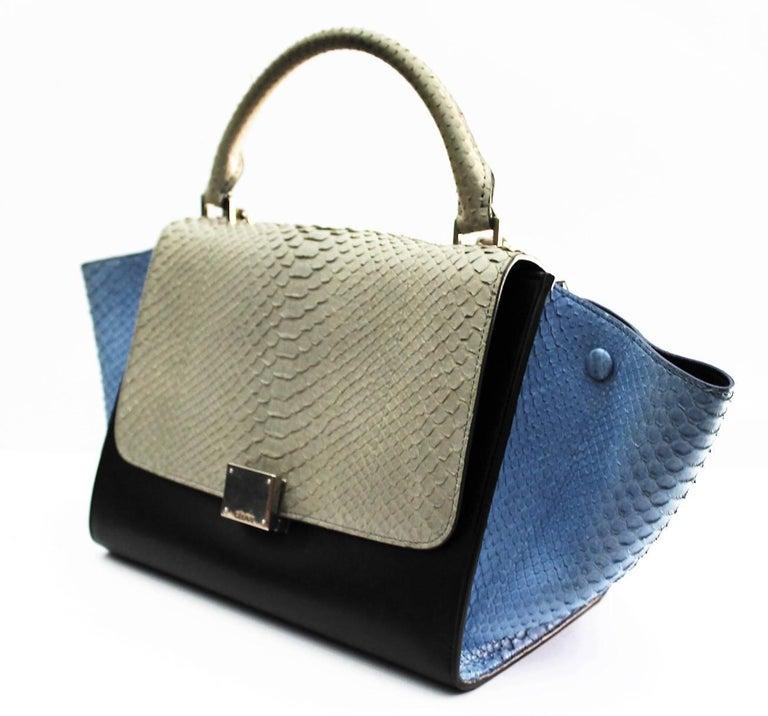 Celine Multicolor Python Leather Shoulder Bag, 2016 For Sale 3