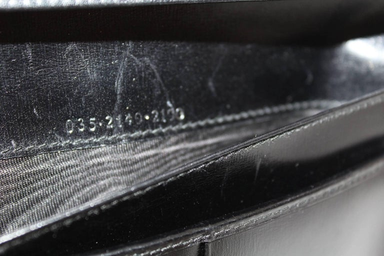 Women's Vintage Gucci Black Crocodile Leather Wallet  For Sale