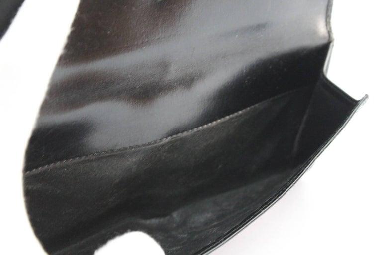 Vintage Gucci Black Crocodile Leather Wallet  For Sale 3