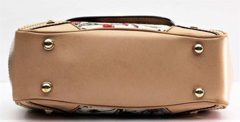e14487d27 Beige Gucci Floral Flora Canvas Bamboo Top Handle Bag For Sale