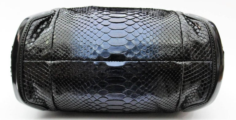 b1f9ee5a4d3e Gucci Navy Blue Python Hobo Bag In Excellent Condition For Sale In Torre  Del Greco