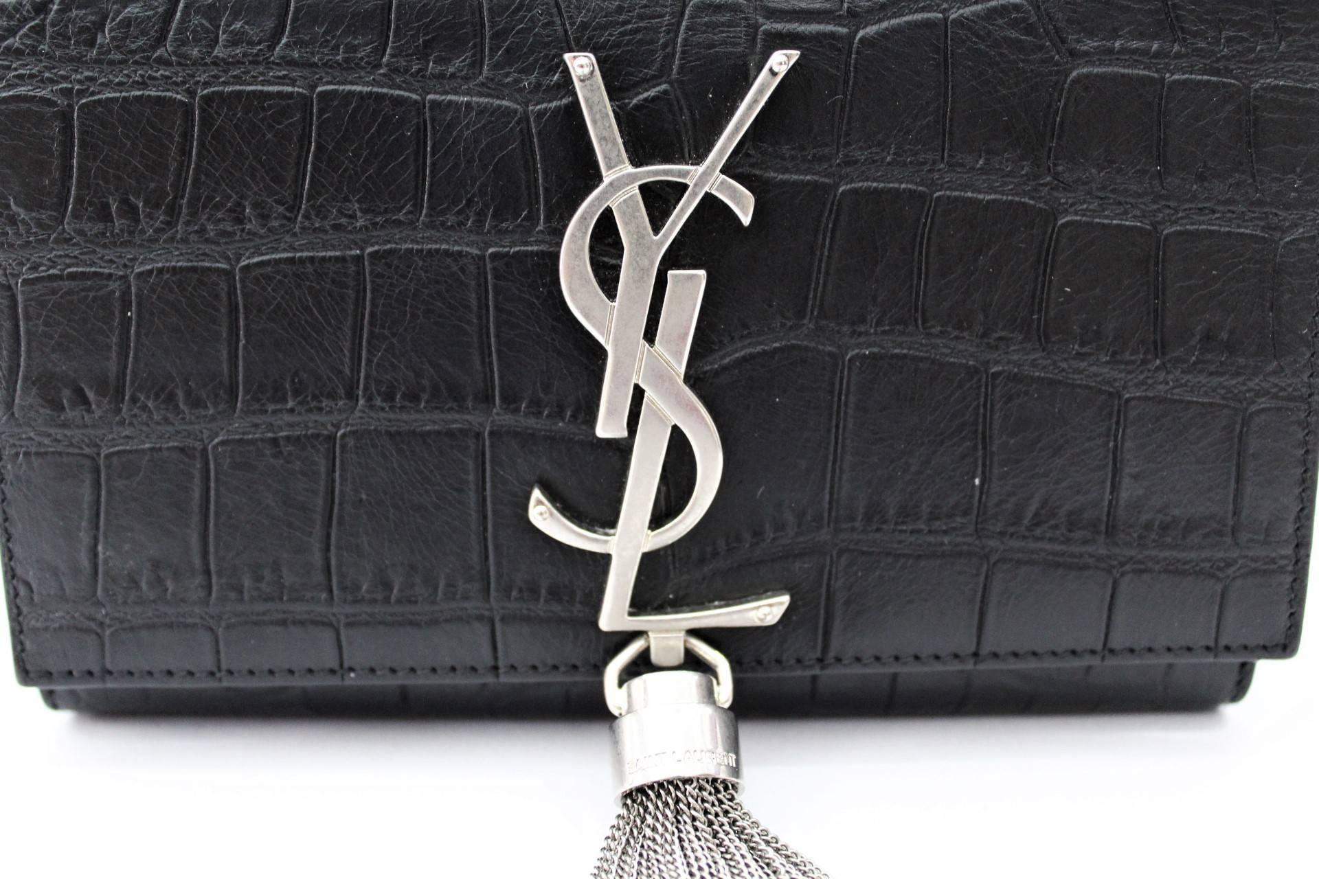 f267f73bac1 Yves Saint Laurent Kate Small Crocodile Print Leather at 1stdibs