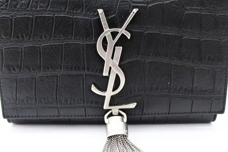 Yves Saint Laurent Kate Small Crocodile Print Leather At