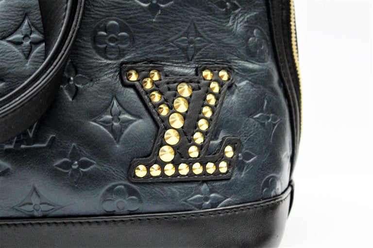 056828a029d8 Black Louis Vuitton Limited Edition Blue Monogram Double Jeu Neo-Alma Bag  For Sale