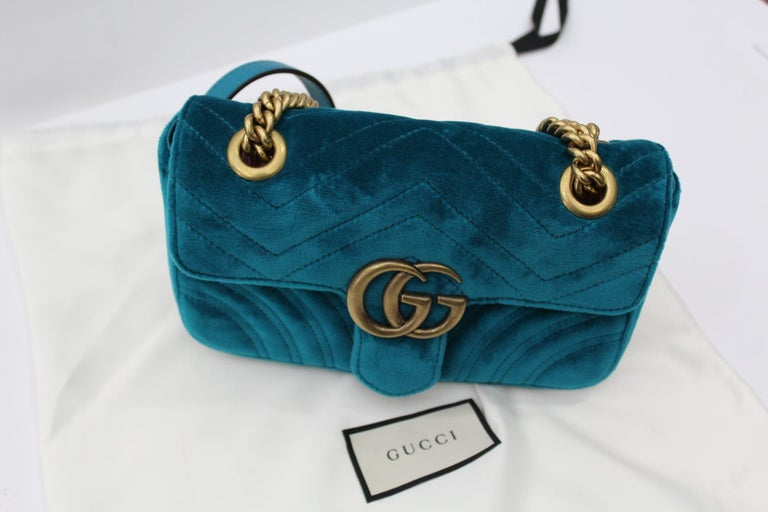 b7b09816015f Gucci GG Marmont Mini Velvet Bag For Sale at 1stdibs
