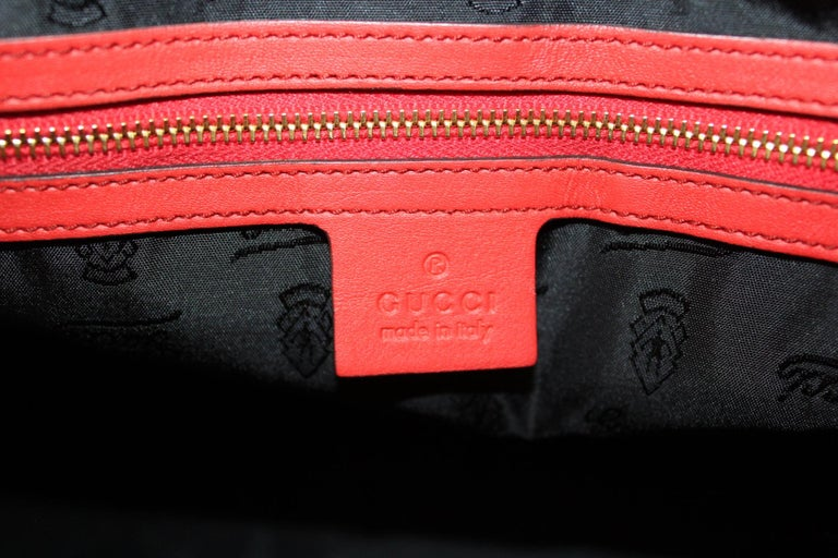 Gucci Red Leather Shoulder Bag For Sale 2