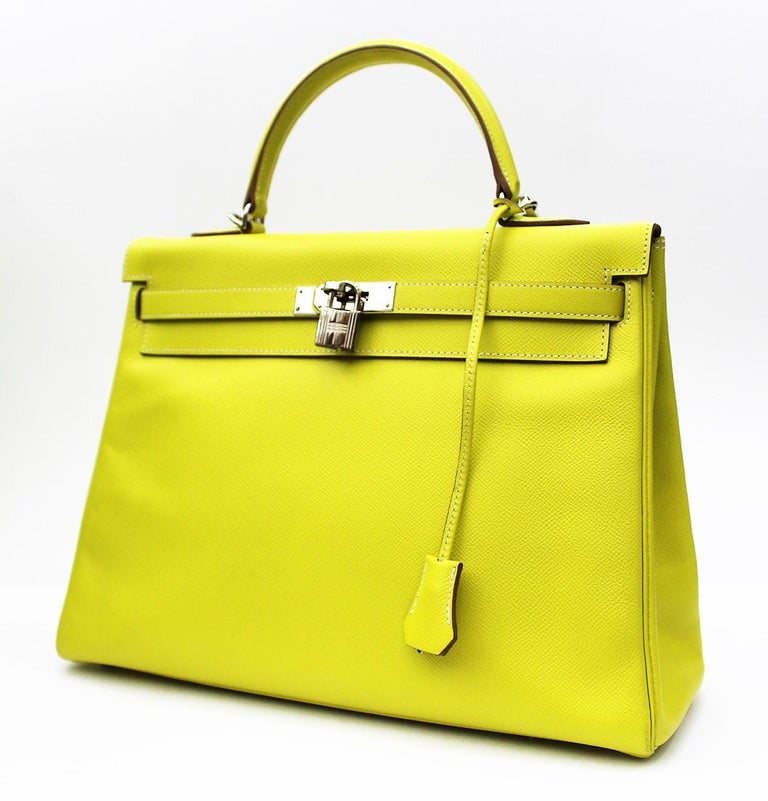 03091ad5dd67 This limited edition Birkin Hermès bag is featured in the Candy Series Lime  color
