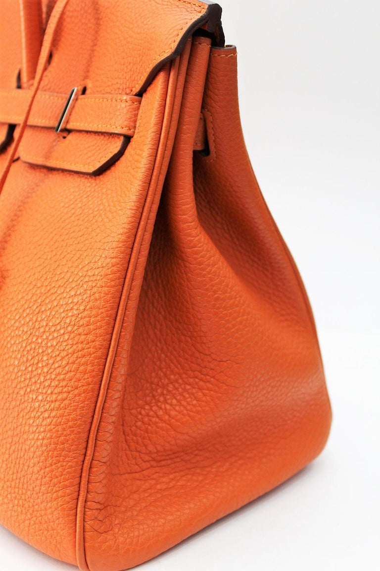 Women's Hermès Birkin 35 Orange Togo Top Handle Bag For Sale