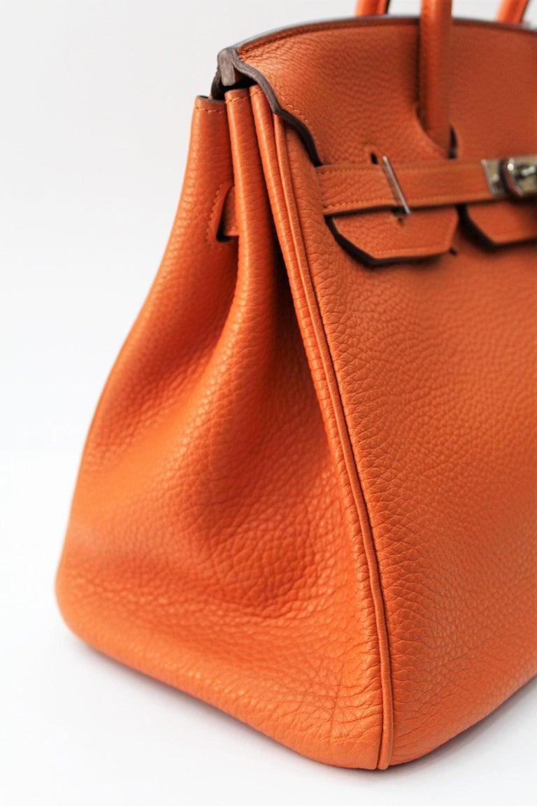 Hermès Birkin 35 Orange Togo Top Handle Bag For Sale 1