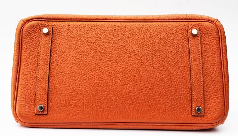 Hermès Birkin 35 Orange Togo Top Handle Bag For Sale 2