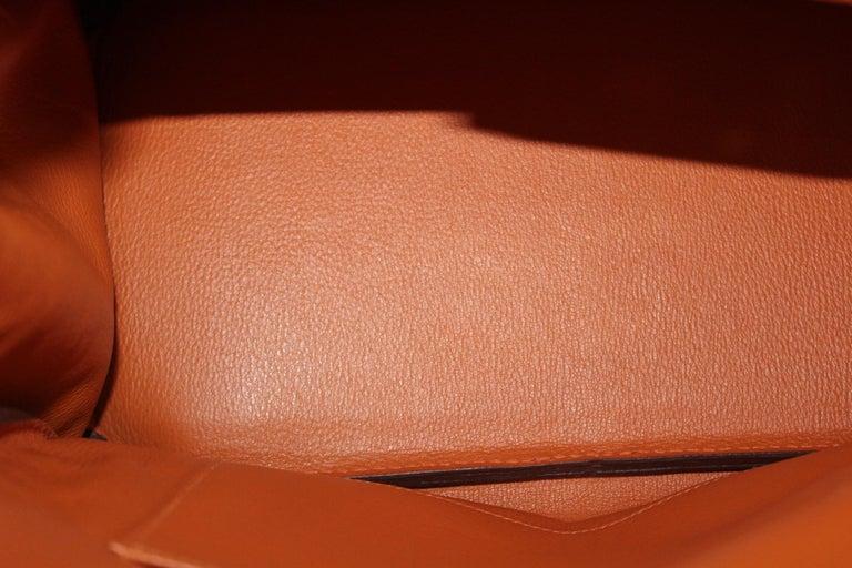 Hermès Birkin 35 Orange Togo Top Handle Bag For Sale 5