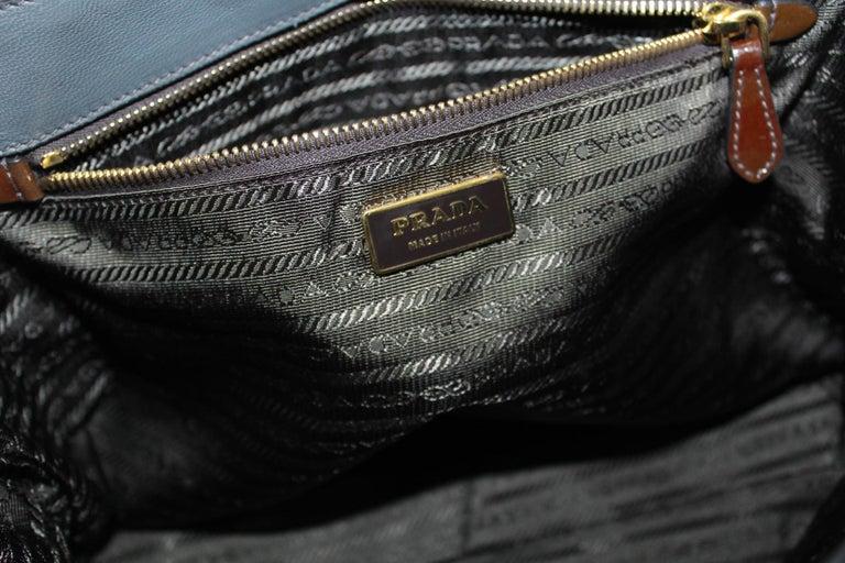 Prada Ematite Vernice Gaufrè Leather  For Sale 1