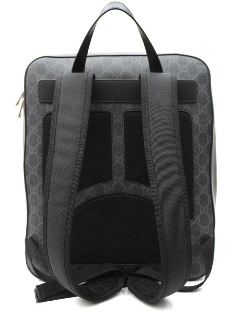 24a252fc56b5 Black Gucci GG Supreme Canvas Angry Cat Backpack For Sale