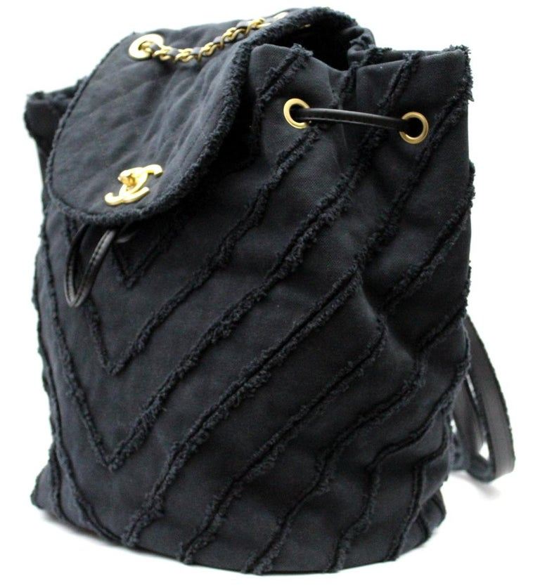 Black 2017 Chanel Cruise Limited Edition Urban Spirit Backpack For Sale