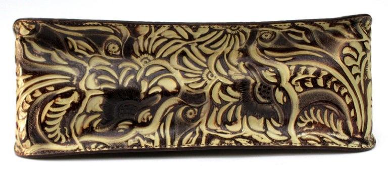 Fendi Embossed Natural Leather Vintage Bag For Sale 1