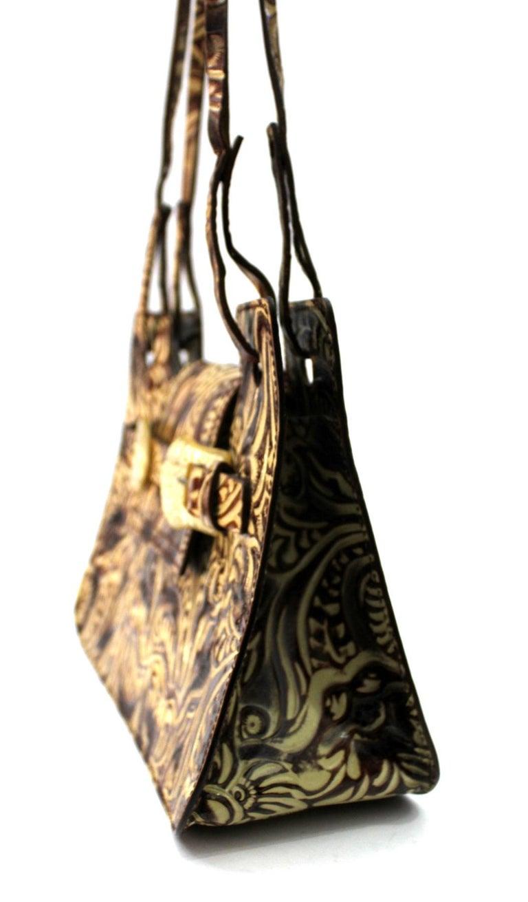Women's Fendi Embossed Natural Leather Vintage Bag For Sale