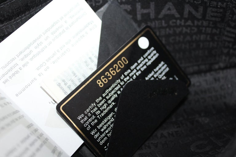 Chanel Black Leather Multiple Chain Bg  For Sale 5