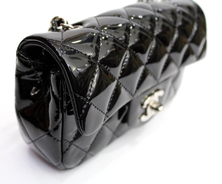 2013/2014 Chanel Black Patent Leather Bag For Sale 1