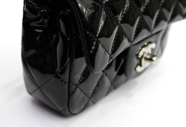 2013/2014 Chanel Black Patent Leather Bag For Sale 2