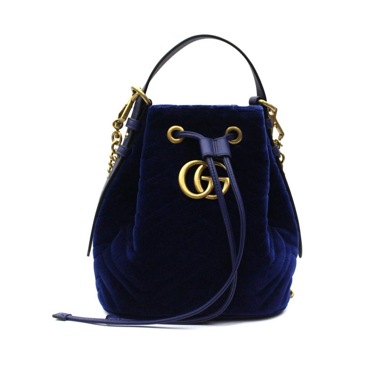 2c66f8bc965 2018 Gucci Blu Velvet Gorm Bag at 1stdibs