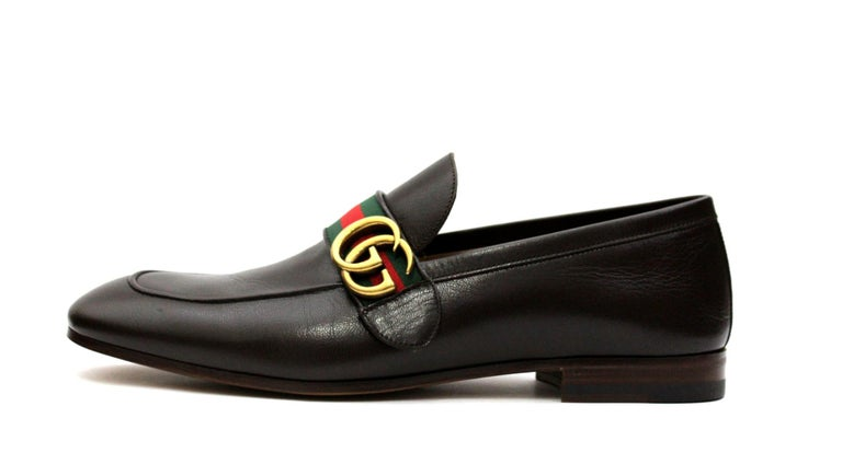6d17d508e Moccasin in tight-fitting design with slightly elongated toe, featuring a  Web detail strap
