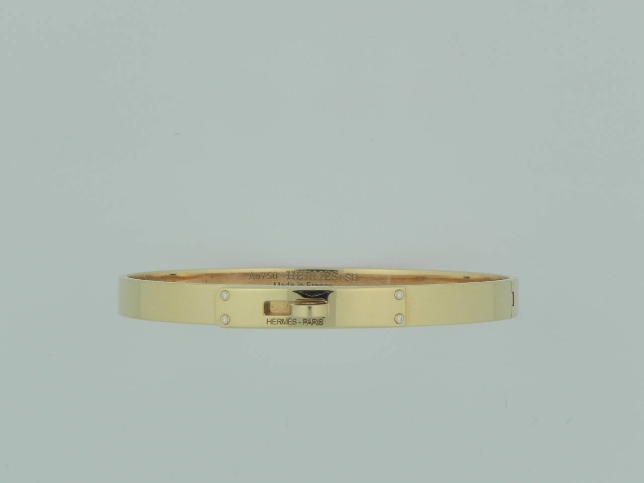 where to buy hermes bags - Hermes Diamond Gold Kelly Bracelet with Box at 1stdibs