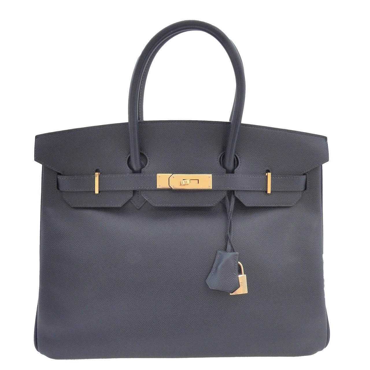 Hermes Dark Navy Blue Birkin 35 cm bag