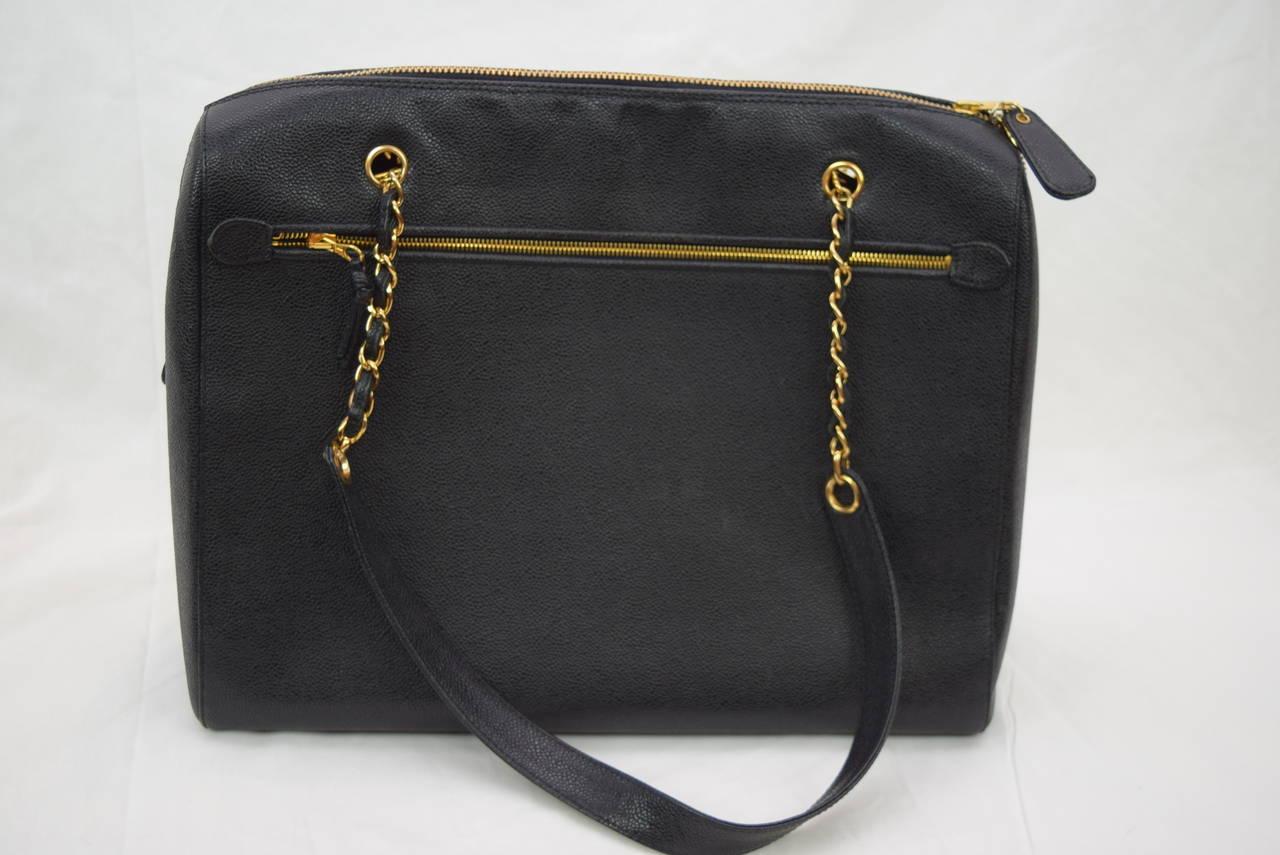 Chanel Boston Bag Black Caviar Shoulder Bag :Circa :1999 3