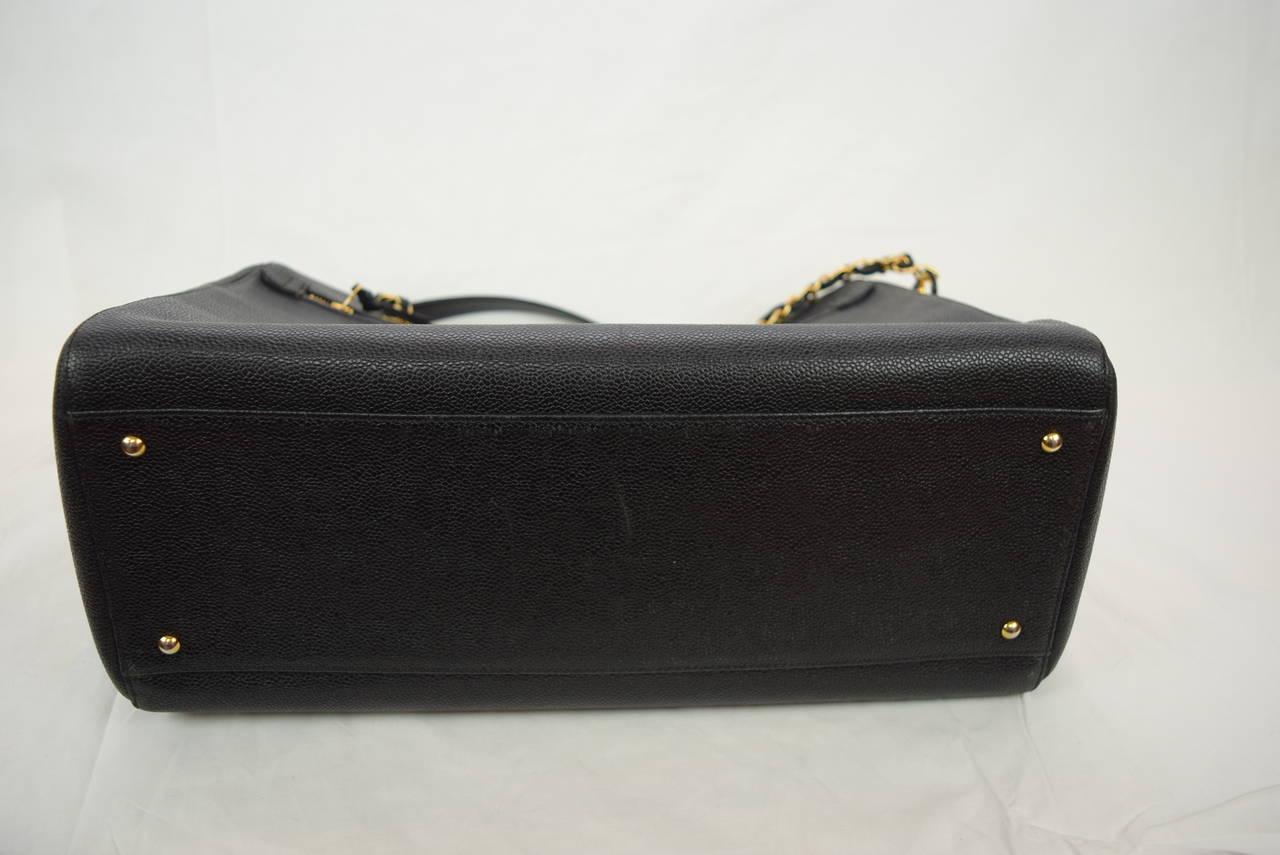 Chanel Boston Bag Black Caviar Shoulder Bag :Circa :1999 5