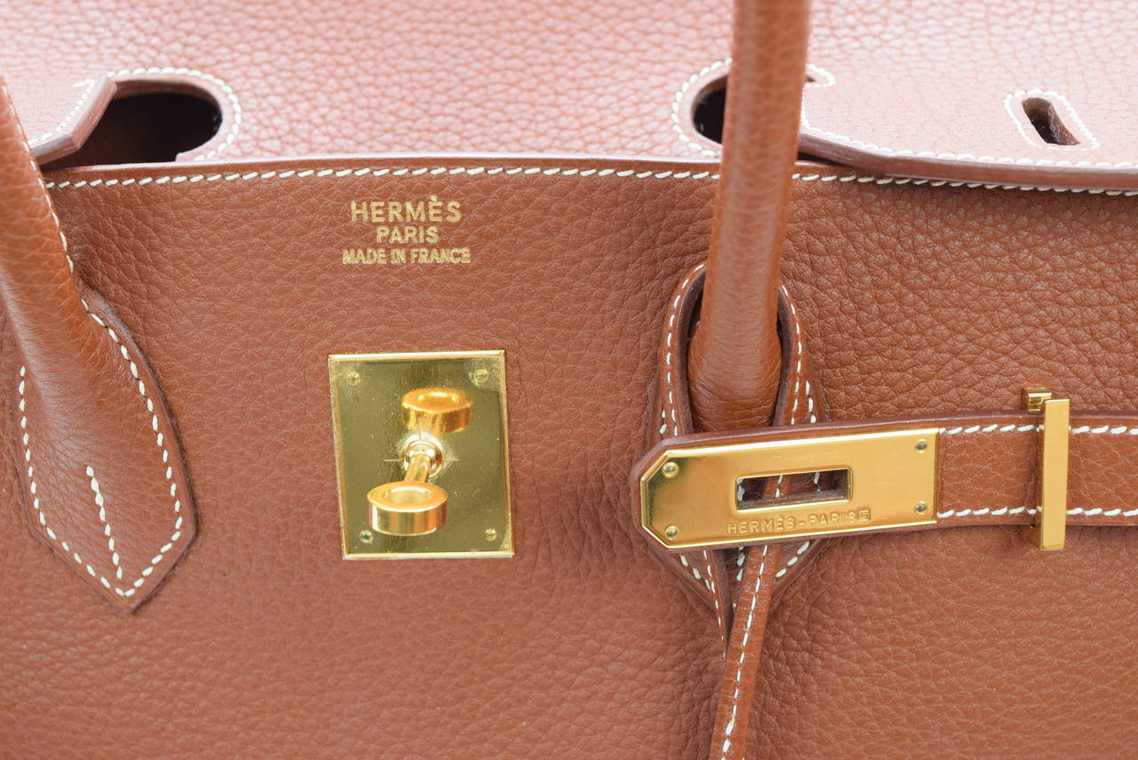 blue birkin bag price - Hermes Birkin 35 cm Brown Taurillion Clemence Bag :Circa 2001 at ...