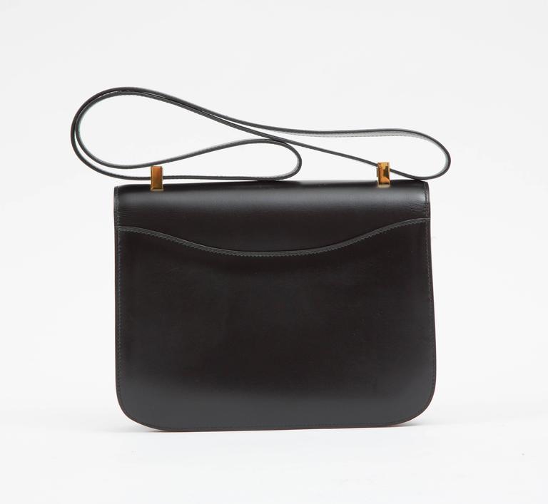 "Hermes Constance 23cm Black Box Calf ""Constance""Bag  3"