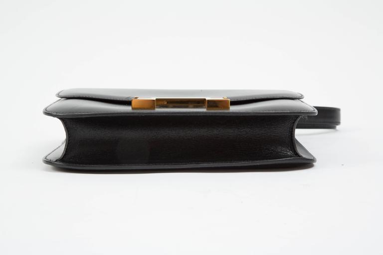 "Hermes Constance 23cm Black Box Calf ""Constance""Bag  6"