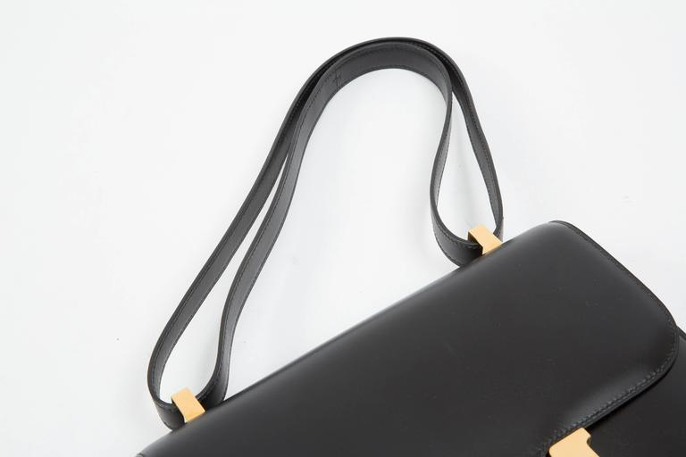 "Hermes Constance 23cm Black Box Calf ""Constance""Bag  5"