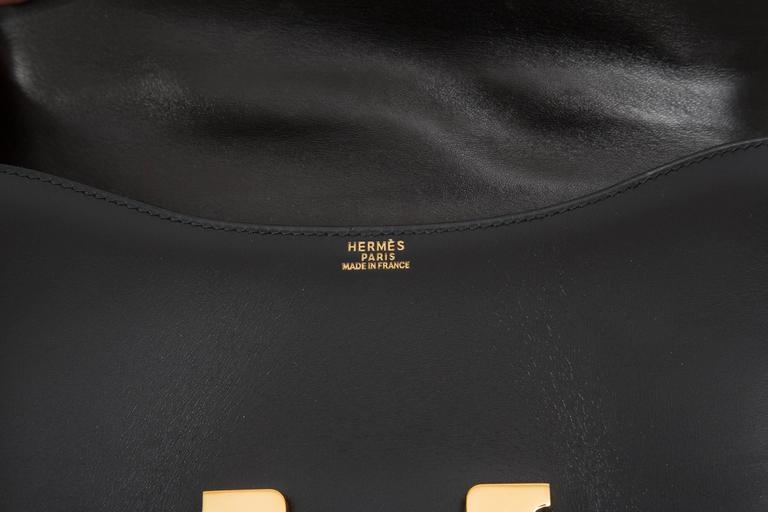 "Hermes Constance 23cm Black Box Calf ""Constance""Bag  8"