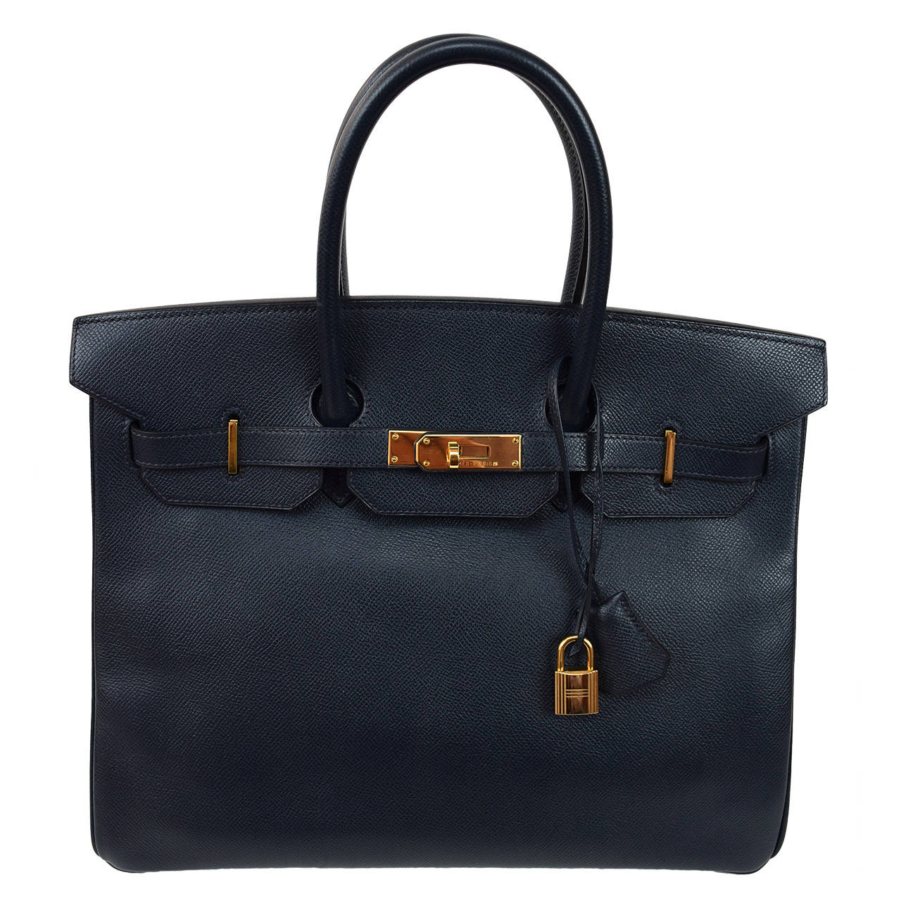 Hermes Dark Navy Blue Coucheval Birkin 35 cm bag