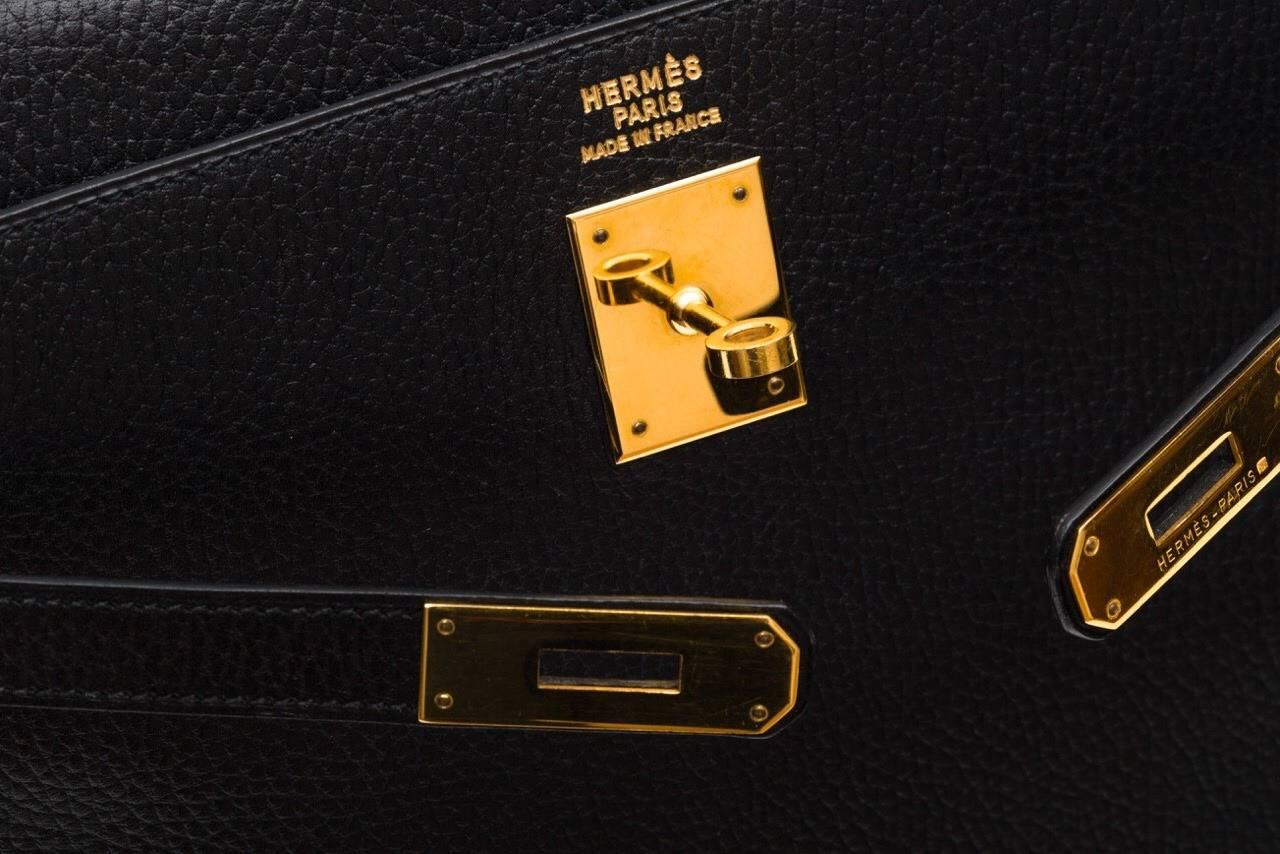 Hermes Kelly Black Ardenne 35 cm bag 2